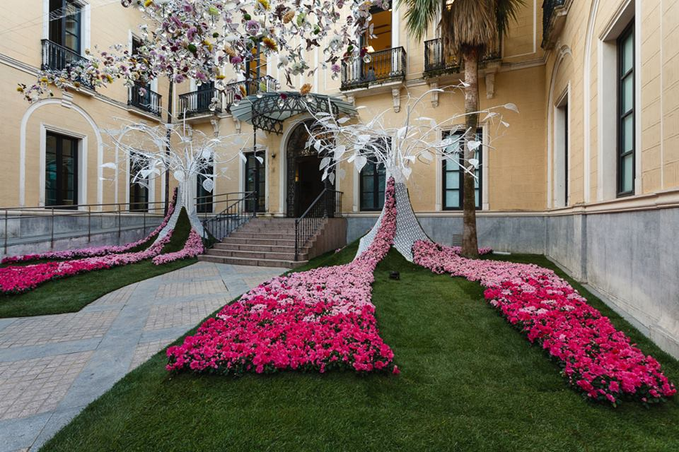 Versierde patio Córdoba Flora