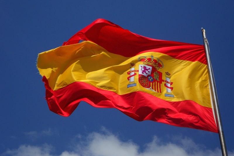 Spaanse vlag van Spanje rood geel