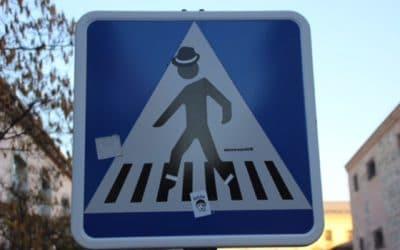 Twan tipt: Verkeersbordmetamorfoses, Street-Art in Madrid