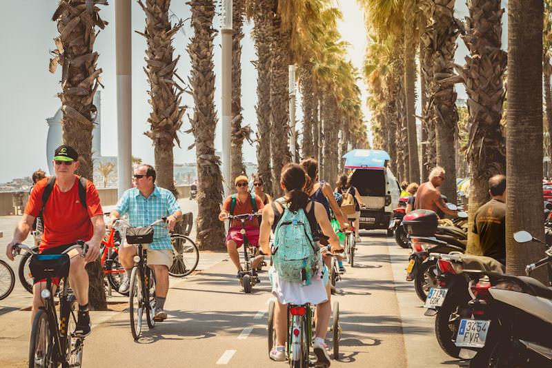 10X leuke fietsroutes door Barcelona