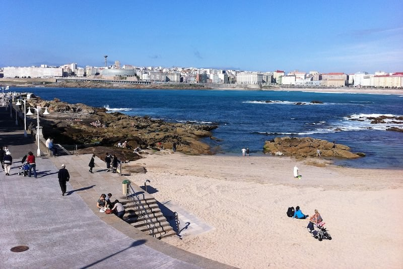 La Coruña strand