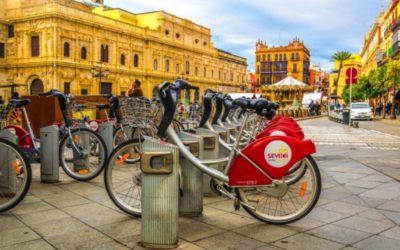 Op de fiets door Sevilla