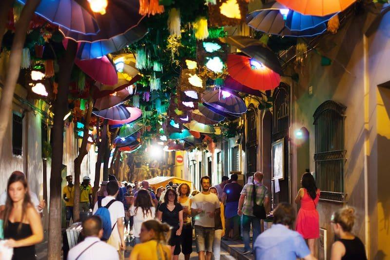 8 x de feesten van Gràcia in Barcelona