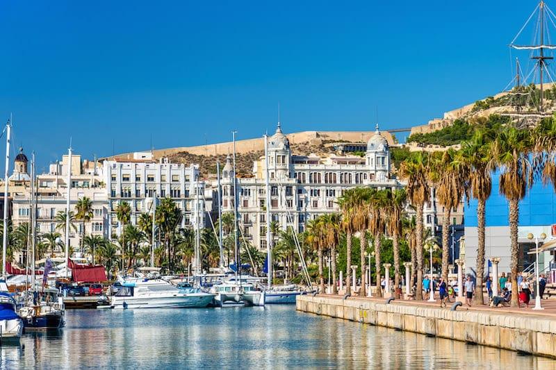 Alicante, ideaal voor een weekend strand