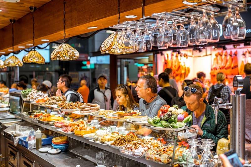 Naar de markt in Barcelona