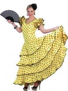 spaanse-flamenco-jurk-geel