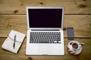 besloten vennootschap laptop kantoor