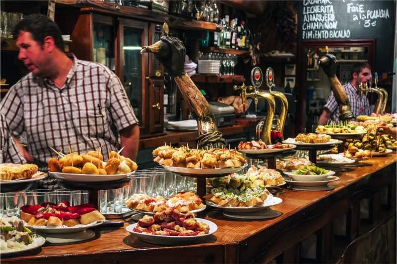 bar in san sebastian pintox