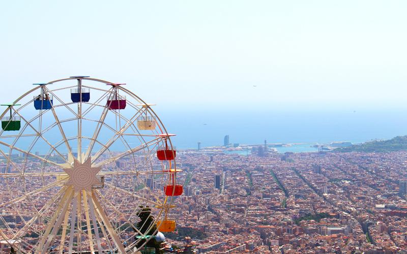 Tibidado Barcelona uitzicht reuzenrad