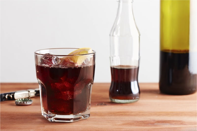 glas calimocho cola wijn