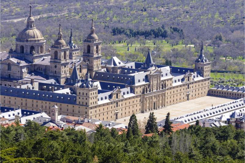 Unesco klooster Escorial in madrid