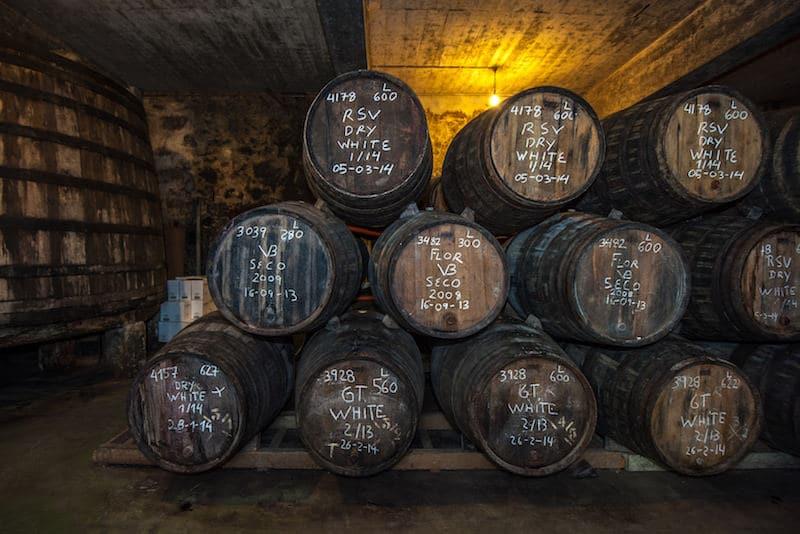 wijn vaten in Jerez