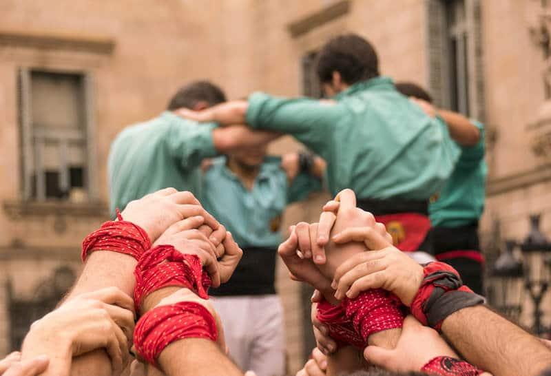 Castellers in Catalonië