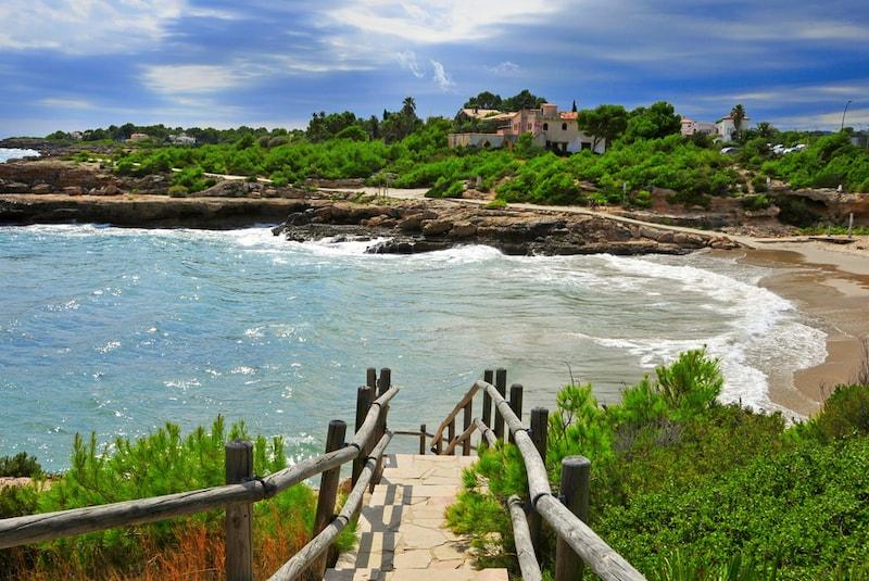 Costa Daurada kust in Spanje