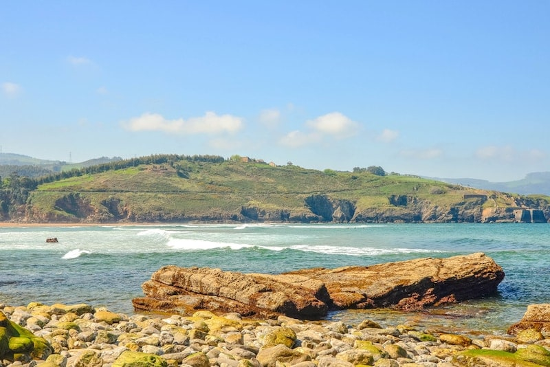 Muskiz kust Noord-Spanje