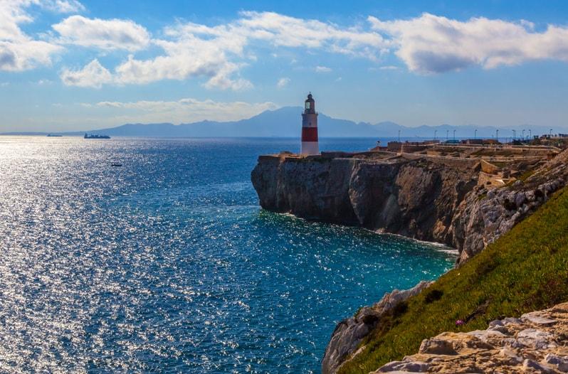 Straat van Gibraltar kust in Spanje
