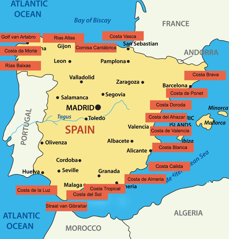 Kaart Spanje Espanje Reis En Cultuurmagazine Over Spanje En