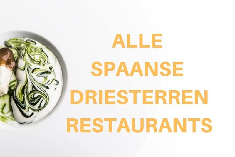 Driesterrenrestaurants in Spanje