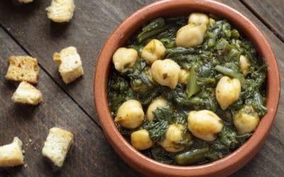 Spaans recept: garbanzos y espinacas (stoofpotje van kikkererwten en spinazie)