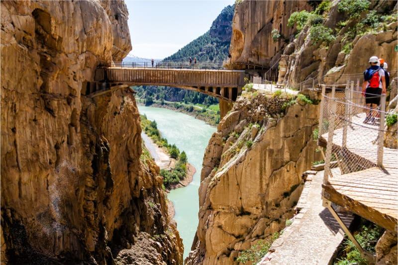 Caminito Del Rey looppad in Spanje