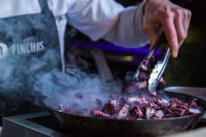 Spaans restaurant-21 pinchos-inktvis