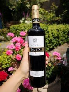 rode wijn alex merlot reserva