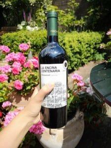 rode wijn la encina centenaria