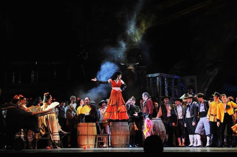 Scéne uit opera Carmen