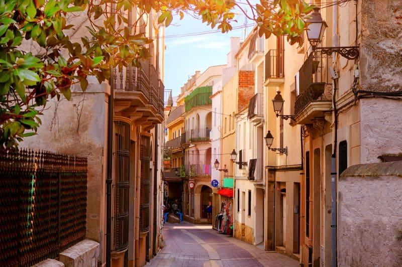 straat in spanje