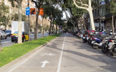 Barcelona: Fietsen over de Diagonal