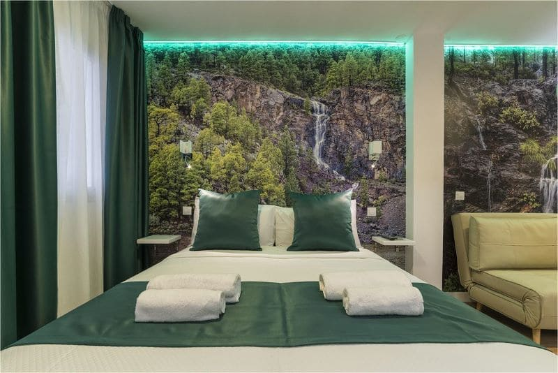 hotel-bed-natuur-thema