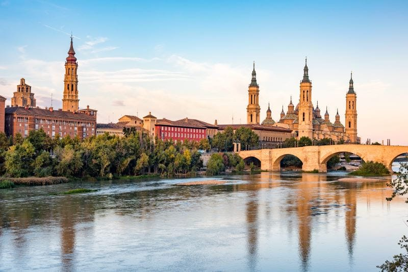 Omgeving Zaragoza Espanje