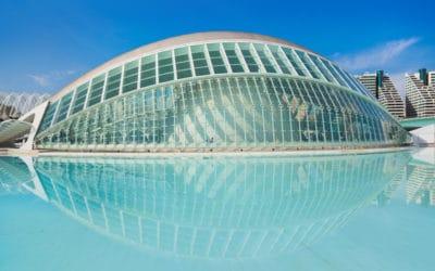 De Stad der Kunsten en Wetenschappen in Valencia