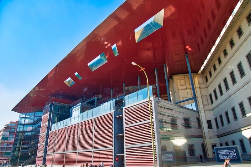 Reina Sofia museum moderne aanbouw