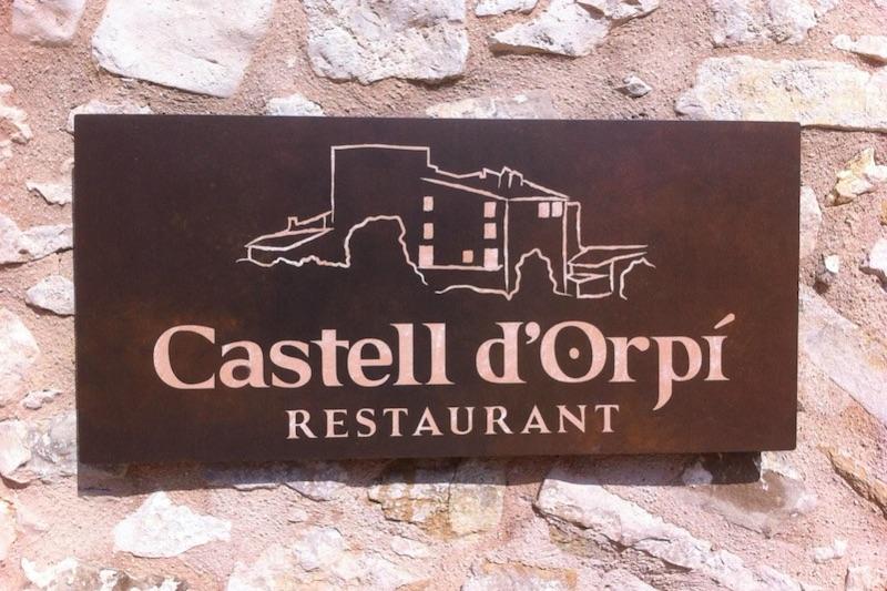 Het logo van Castell d'Orpi restaurant