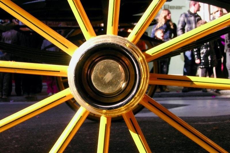 een gouden wiel