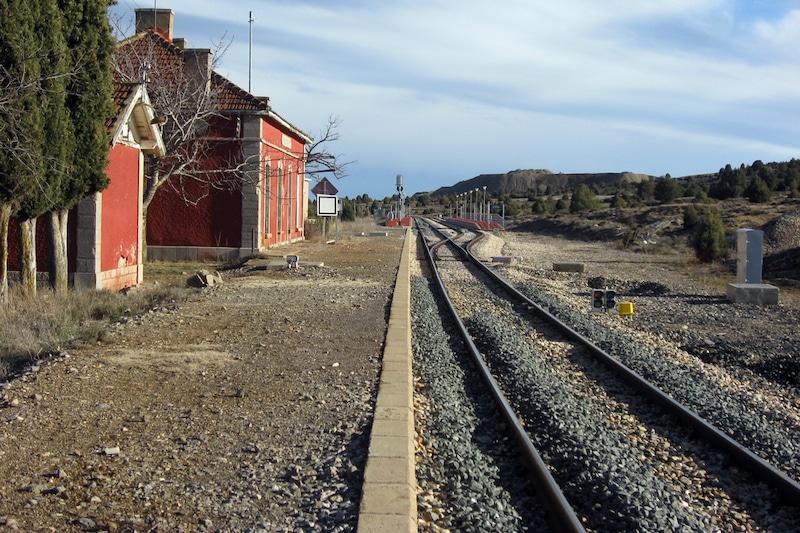 Spoorlijn bij la puebla