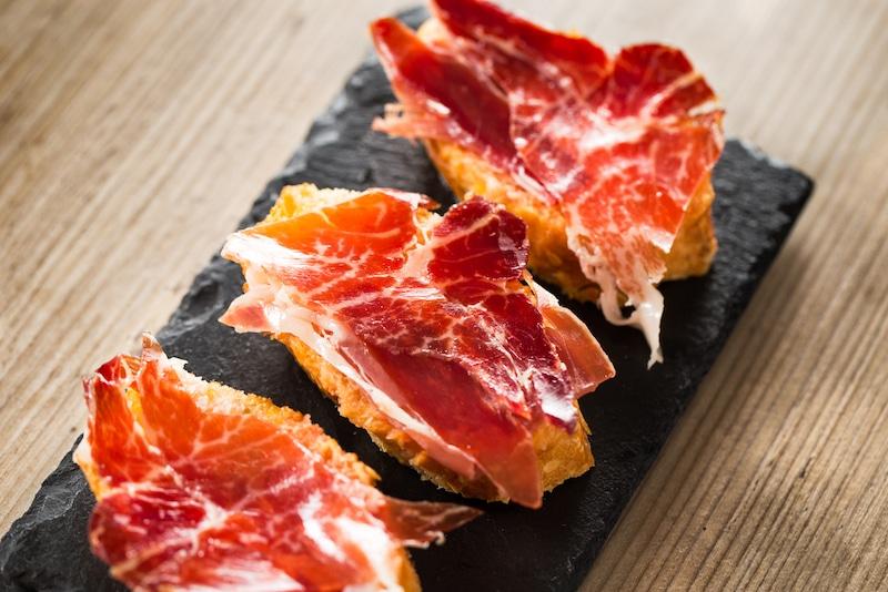Spaanse ham op brood