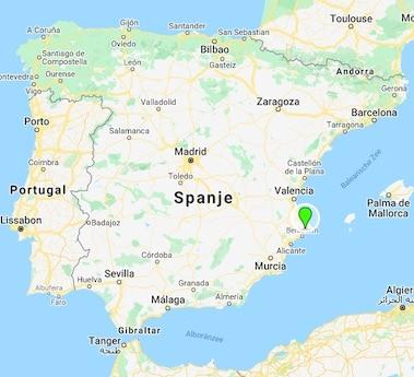 Casa Con Destino landkaart Spanje