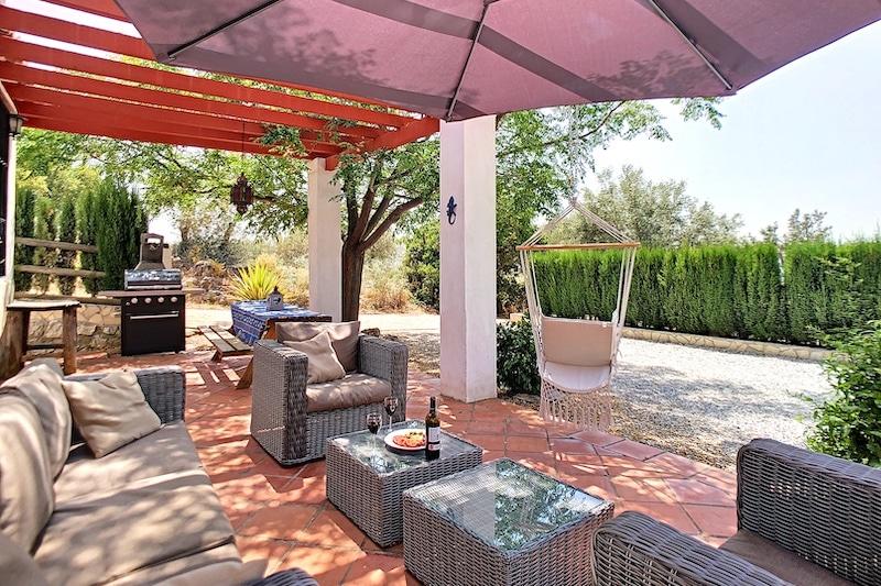 B&B Casa Lobera Vakantie zuid Spanje terras