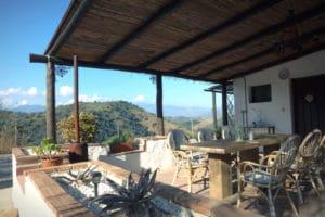 Veranda met uitzicht Corazon Andaluz Guesthouse