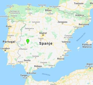 El Baciyelmo landkaart Spanje