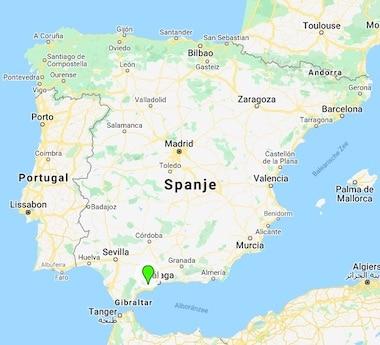 Hacienda Guauro Viejo landkaart Spanje