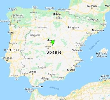 Los Mofletes locatie kaart Spanje
