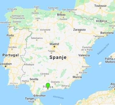 Malaga Feeling Landkaart Spanje