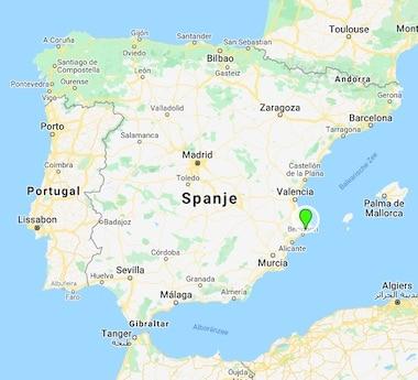 Refugio Marnes landkaart Spanje