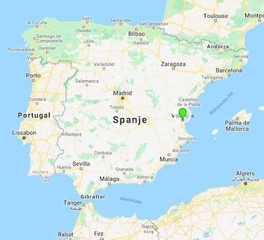 Valencia mindfulness retreat landkaart Spanje