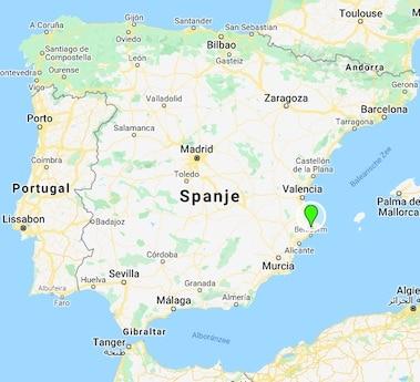 Villa Foia Vella kaart Spanje