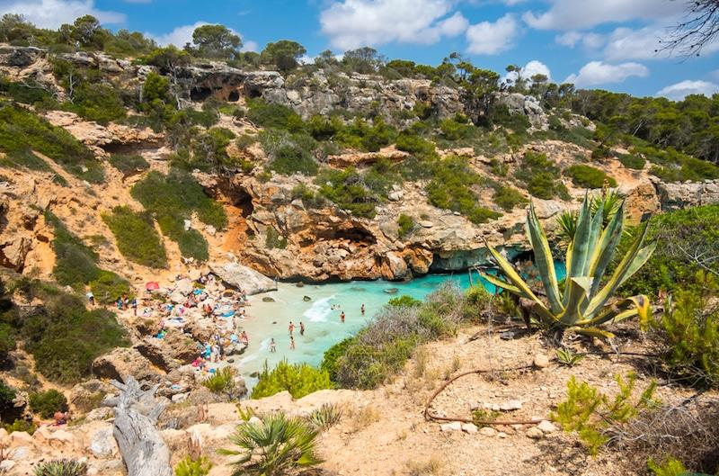 baai Cala d'es Moro op Mallorca