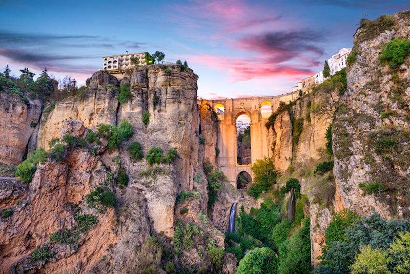 Kloof van Ronda in Andalusië, Spanje